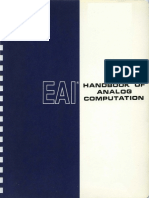 EAI Handbook of Analog Computation 1967