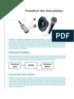 3.3 Menganalisis Komponen Transduser Pada Rangkaian Elektronika