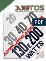 Grandes Projetos - Aplificadores de 20-30-40-70-130-200 Watts