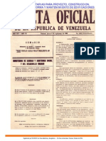 Normas Sanitarias Gaceta Oficial Nº 4044