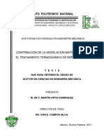 Contribucion de La Modelacion Matematica en El Tratamiento Termoquimico de Borurizacion