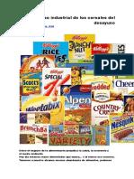 El Proceso Industrial de Los Cereales Del Desayuno