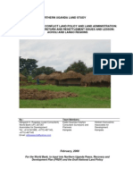 ANALYSIS OF POST CONFLICT LAND POLICY AND LAND ADMINISTRATION