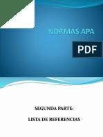 Normas APA - Lista de referencias