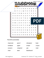 Classroom Wordsearch