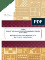Manual Autoinstructivo Del Curso Sobre Conceptos Financieros Para La Administración de Justicia I