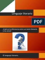 Lenguaje literario