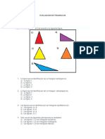 Evaluacion de Triangulos