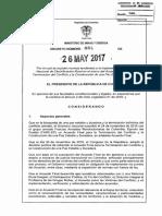 DECRETO | Decreto 884 DEL 26 de MAYO de 2017- Plan Electrificación Rural