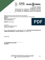 Informe Diario de Protocolos Nacionales de Primer Respondiente