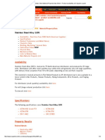 Alloy 22205 Stainless Steel Material Property Data Sheet