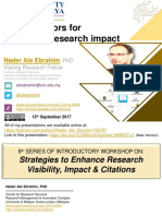 New indicators for measuring research impact