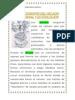 ANTECEDENTES DEL HELADO ARTESANAL Y SU EVOLUCIÓN
