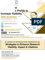 Create Online Researcher's Profile to Increase Visibility