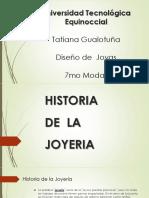 Historia de La Joyeria