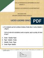 PRUEBA SABER DE MATEMATICAS GRADO 5°