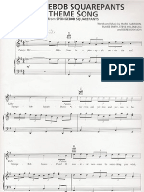 graphic about Harry Potter Theme Song Sheet Music for Piano Free Printable known as Spongebob Sq. Trousers Concept Music (Sheet Songs) Animated
