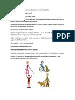 Como Ayudar a Las Personas Discapacitadas