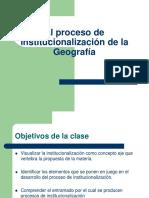 institucionalización geo