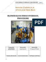 Blower k430 Snh60 Overhaul Procedure