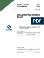 NTC6072.Doc Centros de Formación y Entrenamiento en Proteccion Contra Caidas