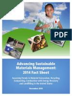 EPA Advancing Sustainable Materials Management 2014 Fact Sheet