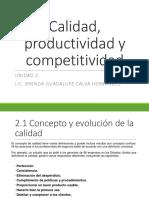 Calidad-productividad y Competitividad_ Unidad2