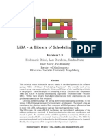 LiSA - A Library of Scheduling Algorithms