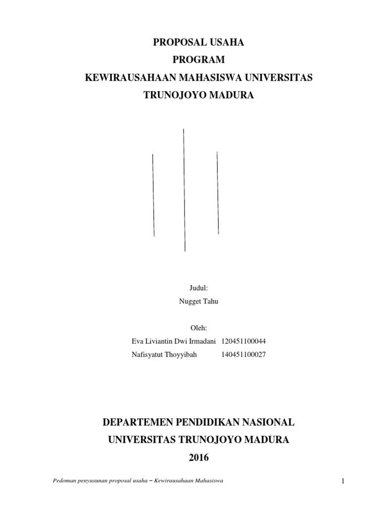Proposal Nugget Tahu