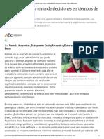 Las Claves Para La Toma de Decisiones en Tiempos de Cambio - Diario Financiero