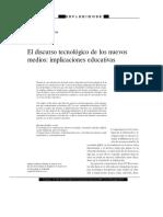 El discurso tecnológico  de los nuevos medios, implicaciones educativas....pdf
