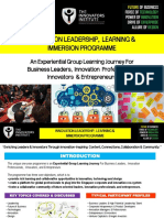 Innovation Leadership Learning Immersion Programme