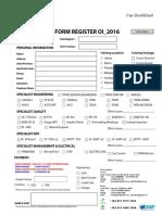 Form Register Oilinstitut 2016