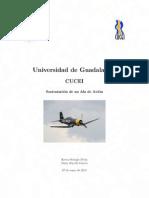 Sustentación del ala de un avion