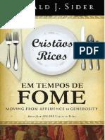 Cristaos Ricos Em Tempos de Fome - Ronald Sider - PDF