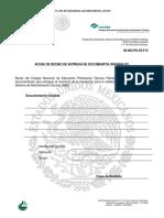 Acuse de Recibo de Entrega de Documentos Originales