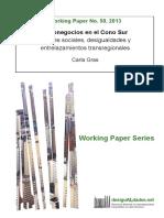 Agronegocios en El Cono Sur. Actores Sociales, Desigualdades y Entrelazamientos Transregionales