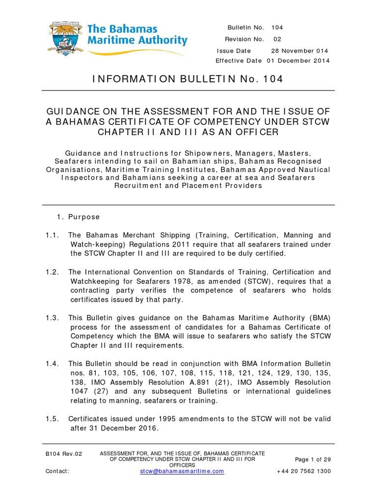 Information bulletin no 104 issue of bahamas national 104 issue of bahamas national certificates and endorsements rev2pdf sea captain shipping 1betcityfo Choice Image