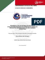 Desarrollo de Un Sistema de Gestión de Evaluacion