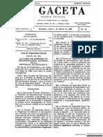 Documento de La Gaceta