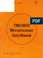 Tms9900 Microprocessor Data Manual