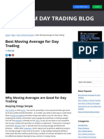 Best Moving Average for Day Trading