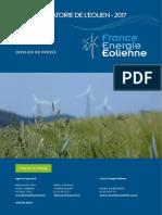 Dossier de presse Observatoire de l'éolien 2017
