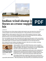 Indian Wind Slump in Sharp Focus as Crane Supplier Takes Hit