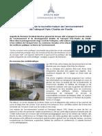 15.09.15 Groupe ADP -Inauguration de La Nouvelle Maison de l'Environneme..