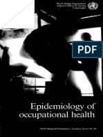 Occupational Epidemiology 0 WHO