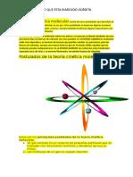 La Teoría Cinética Molecular Consta de Cinco Postulados Que Describen El Comportamiento de Las Moléculas en Un Gas