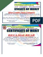 Merit Card - Grade 12