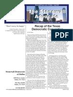 Stonewall Democrats of Dallas Newsletter July 2010