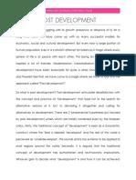 post development by aparaajith sharmadcs